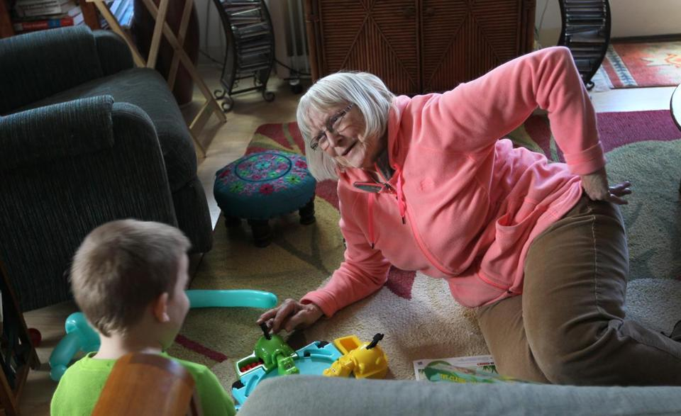 Mary Steele, 81, regularly babysits for a boy who lives at the Treehouse community with his foster family.